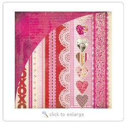 2013.0221 BasicGrey - Kissing Booth Collection - 12 x 12 Double Sided Paper - XOXO