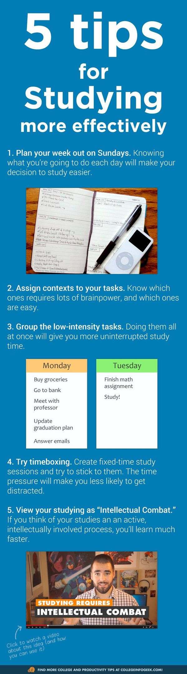 [Infograph] 5 Tips for Studying More Effectively - CPA Zone