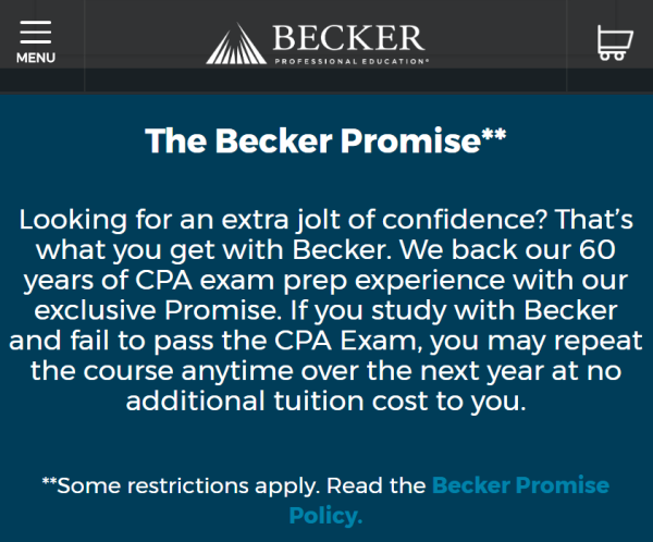 The Becker Promise - CPA Exam Buzz